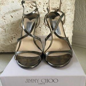 Jimmy Choo mirror palladium heel